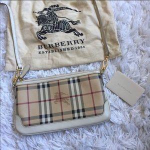 Authentic Burberry Haymarket Check Crossbody Bag